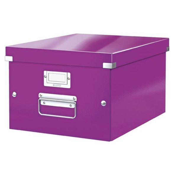 """LEITZ Irattároló doboz, A4, LEITZ """"Click&Store"""", lila"""